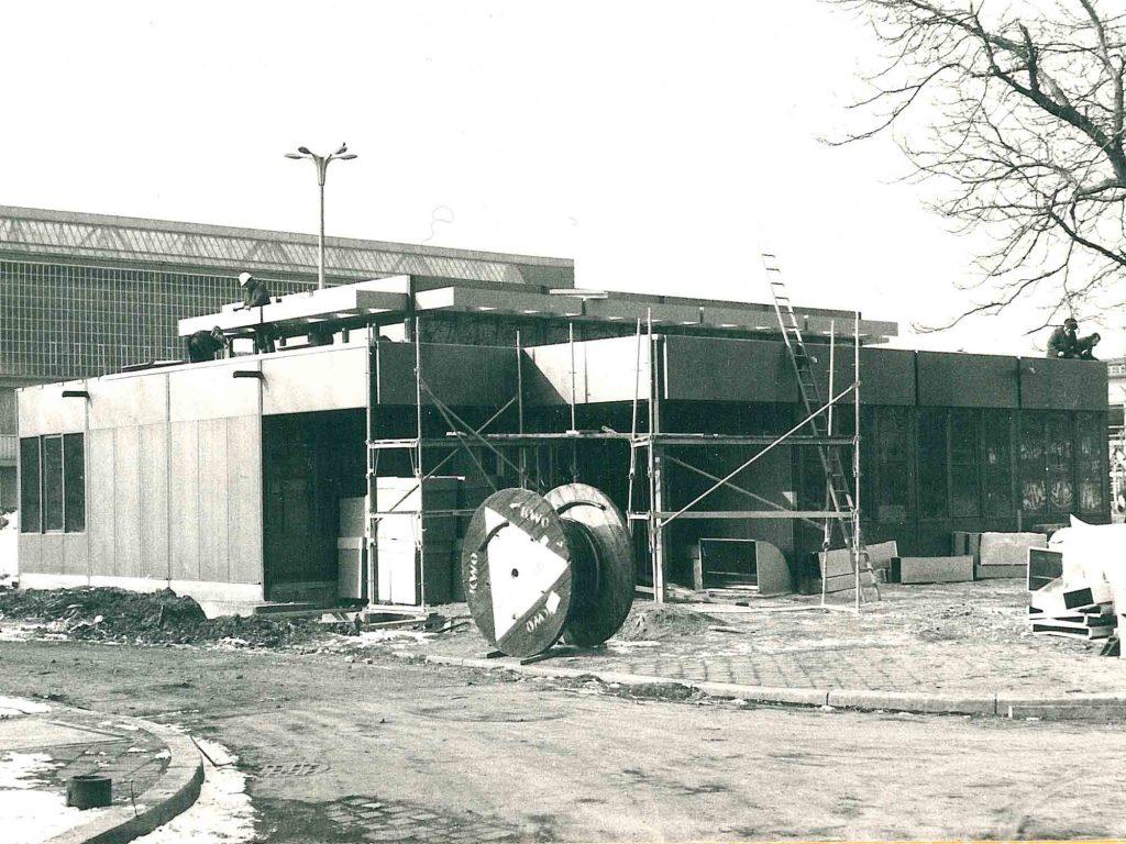 Während der Bauarbeiten 1977. Foto Helmut Dräger
