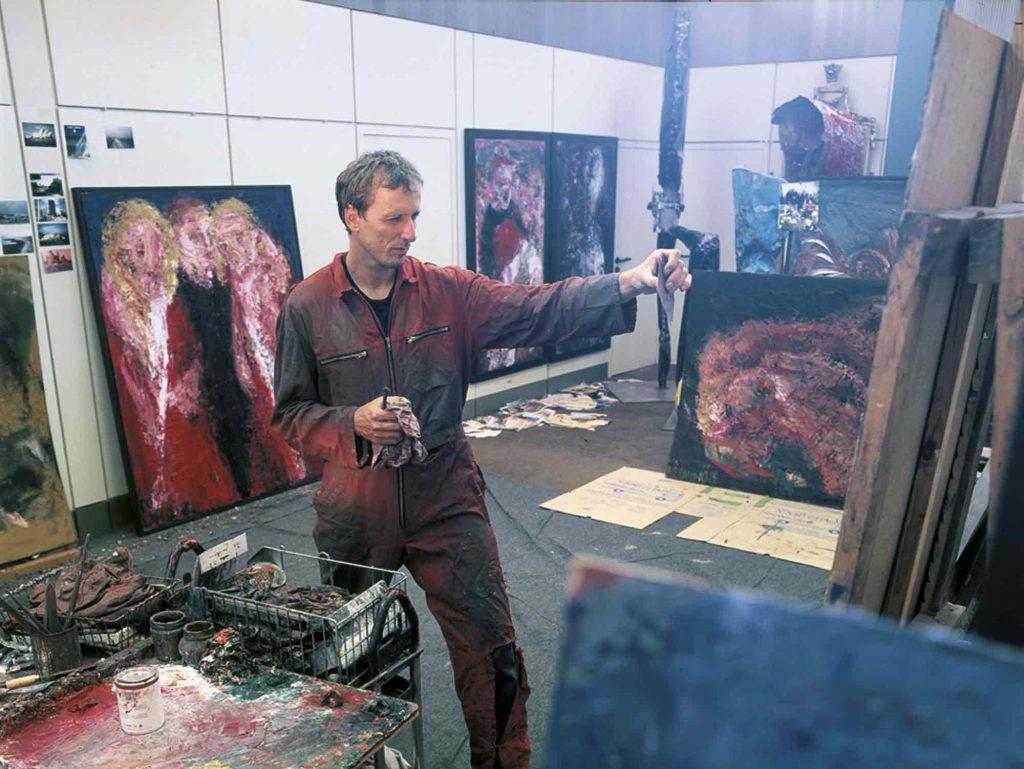 Atelier André Böhme im Pavillon 15.1  ca. 2003  Foto: Martin Jehnichen